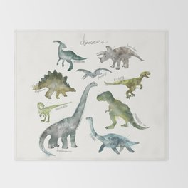 Dinosaurs Throw Blanket