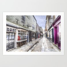 The Shambles York Snow Art Art Print