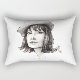 vintage girl Rectangular Pillow