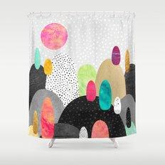Little Land of Pebbles Shower Curtain