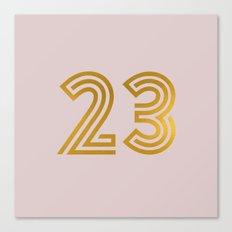 #23 (Pink) Canvas Print