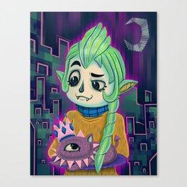 Cyclops Kitten Canvas Print