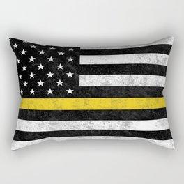 Thin Gold Line Rectangular Pillow