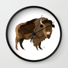 Buffalo Collage Wall Clock