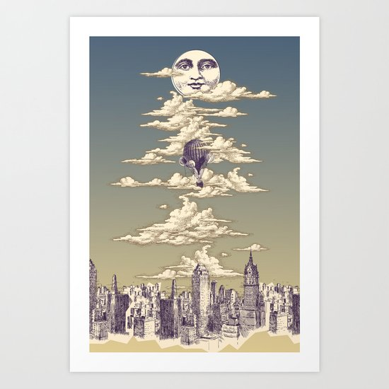 Go Ballooning! A Vintage Poster Recently! Art Print