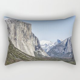 El Capitan, Half Dome and Sentinel Rock from Tunnel View Rectangular Pillow