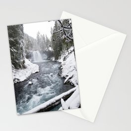 The Wild McKenzie River Waterfall - Nature Photography Stationery Cards