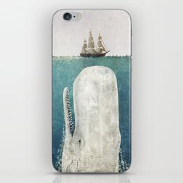 The Whale - vintage iPhone Skin