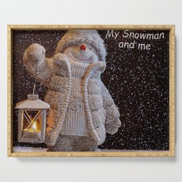 My Snowman and Me Serving Tray