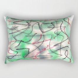 Green wat 3 Rectangular Pillow