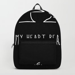My Heart Beats For Coffee Backpack