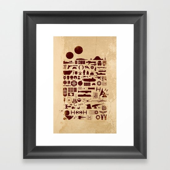 Posted on a Cantina Wall - Star Wars Framed Art Print