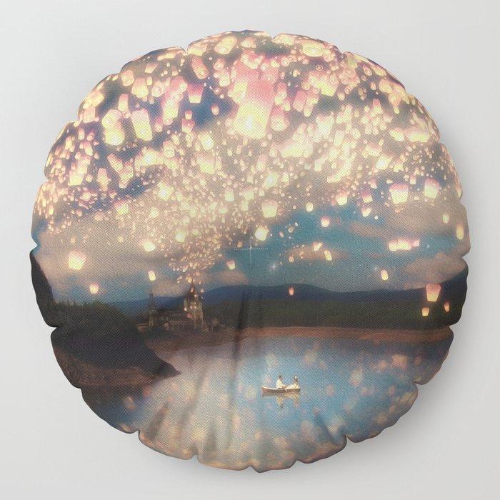 Love Wish Lanterns Floor Pillow