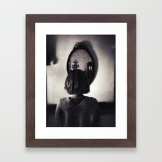 Face to Place Framed Art Print
