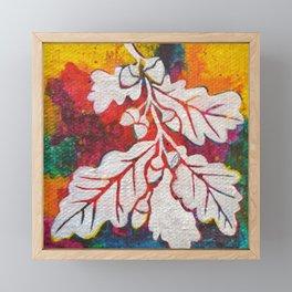 Leaves on the World Tree: Basques Oak Framed Mini Art Print