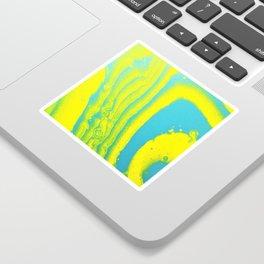 Yellow Blue Abstract Animal Print Acrylic Sticker