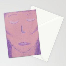White Pink Violet Flame Woman Shekhinah Shakti Nur Stationery Cards