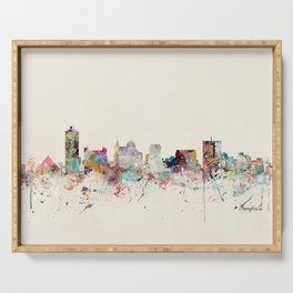 memphis tennessee skyline Serving Tray