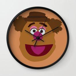 Minimalist Fozzie the Bear Wall Clock