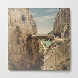 """""""The most dangerous trail in the world"""". El Caminito del Rey Metal Print"""