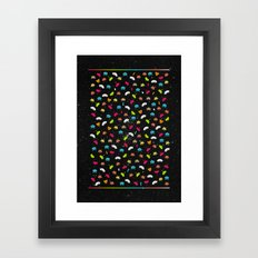 Space Invaders Framed Art Print