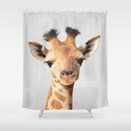 Baby Giraffe - Colorful Shower Curtain