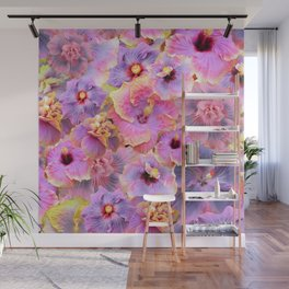 Tropical hibiscus patterns Flower Floral Flowers Wall Mural