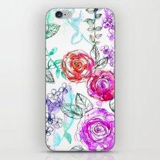 Pastel Rose Garden 02 iPhone & iPod Skin