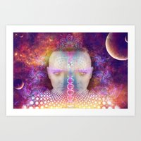 dna Art Prints featuring DNA by AC DESIGNS
