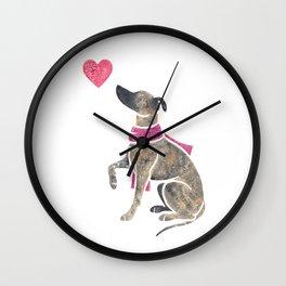 Watercolour Whippet Wall Clock