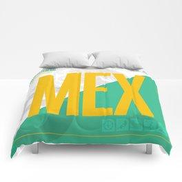 Mexico City - Ciudad de la Esperanza Travel Poster Comforters