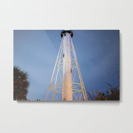 Lighthouse in the Night  Metal Print