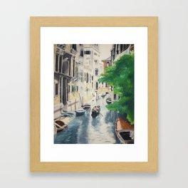 Venice digital print Framed Art Print