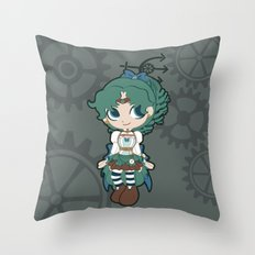 Steampunk Sailor Neptune - Sailor Moon Throw Pillow