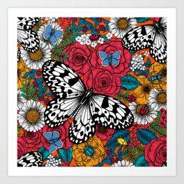 A colorful garden Art Print