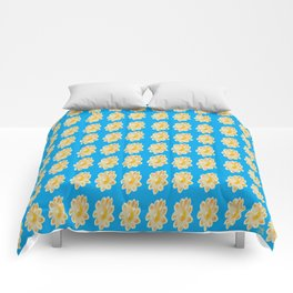 Golden Daisy Swimming in Blue Comforters