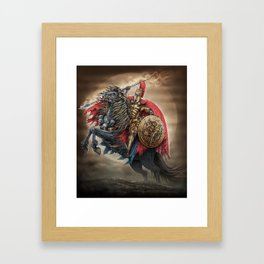 Spartan's army Framed Art Print