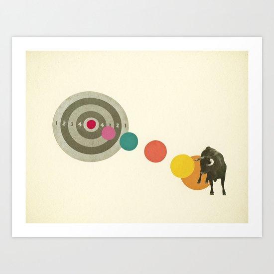 Bull's Eye : Taurus Art Print