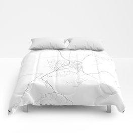 Minimal City Maps - Map Of Shkoder, Albania. Comforters