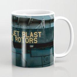 Beware of Jet Blast - Military Aircraft Carrier Coffee Mug