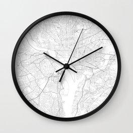 Washington, D.C., United States Minimalist Map Wall Clock