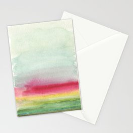 Abstract Magenta Landscape Stationery Cards