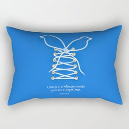 A Journey of A Thousand Miles Begins With A Single Step- Lao Tzu Quote Rectangular Pillow
