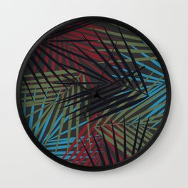 Tropical Palm Fronds Pattern Wall Clock