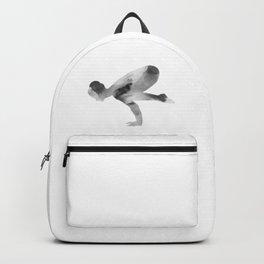 Yoga | Crane Pose | Bakasana Pose | B&W | Meditation | Youth | Happiness | Longevity Backpack