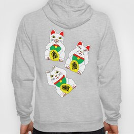 Funny Wise Lucky Rich Cats Hoody