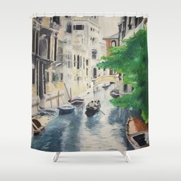 Venice digital print Shower Curtain