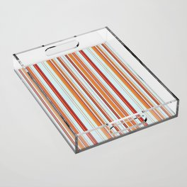 Combined Stripe Pattern - Clear Sailing Colorway Acrylic Tray
