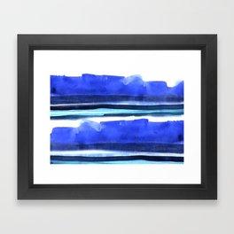 Wave Stripes Abstract Seascape Framed Art Print