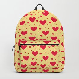 Small Red Hearts Repeated Pattern 065#001 Backpack